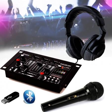 Mixer Kit Dj21 Usb Bluetooth Headset Live Dj Micro
