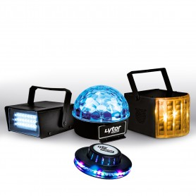 PACK ZIRKUS LytOr 4 Light games strobe dome ASTRO + 6 LEDs + 4 Derby RGBW LEDs + UFO effect