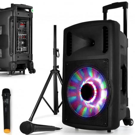 PARTY PARTY-KARAOKE12 KARAOKE SET 2-WEG BOXEN 600W LAUTSPRECHER BLUETOOTH DJ USB
